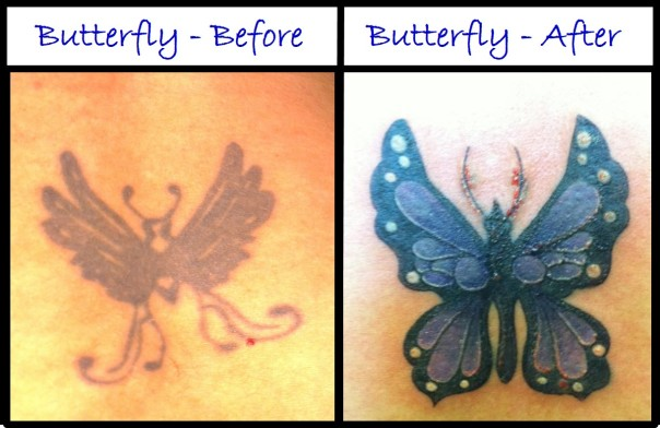 Butterfly - Before and After
